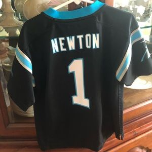 Boys  Official NFL Carolina Panthers Jersey.